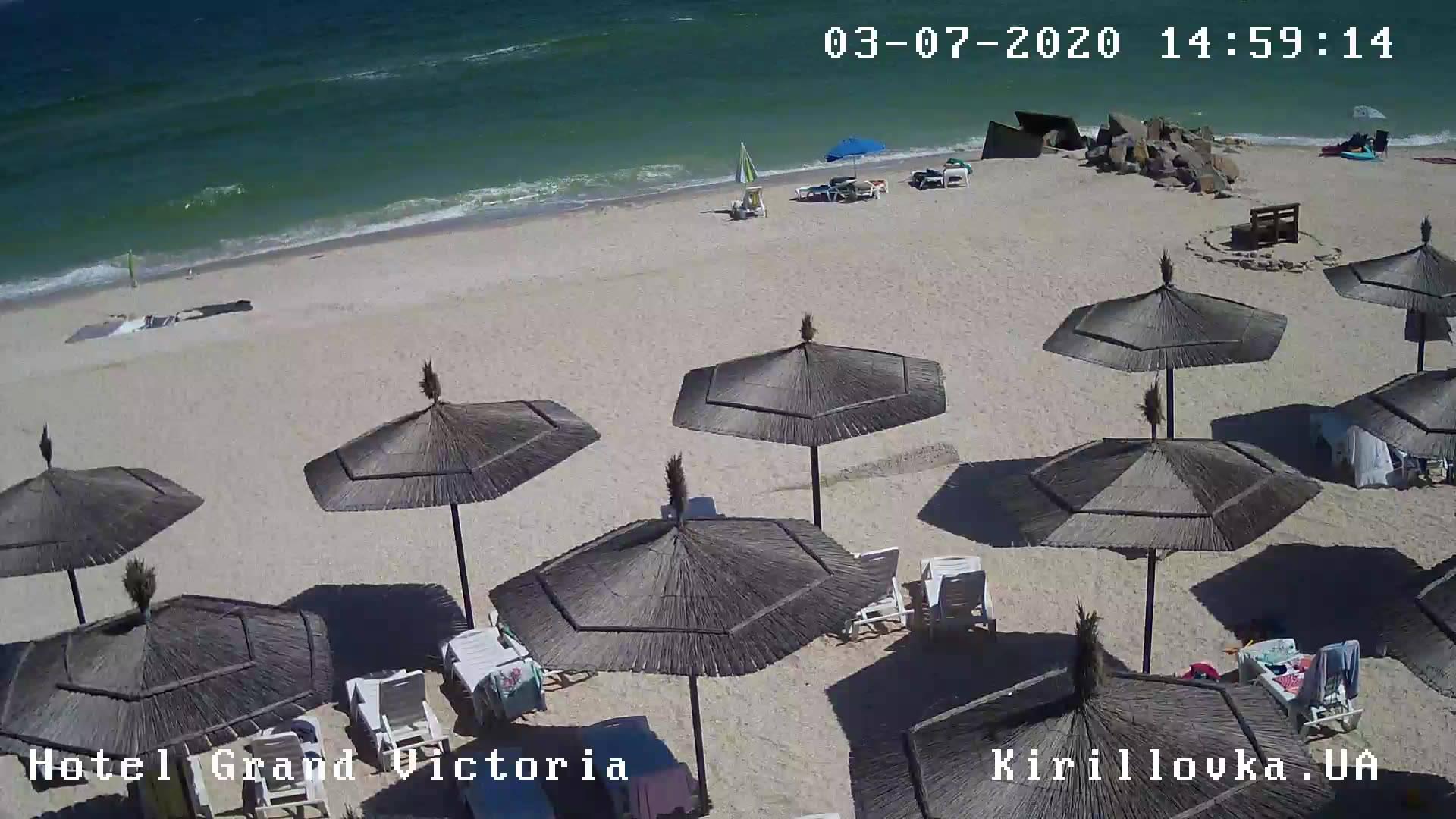 Веб-камеры пляжа отеля Гранд Виктория в Кирилловке